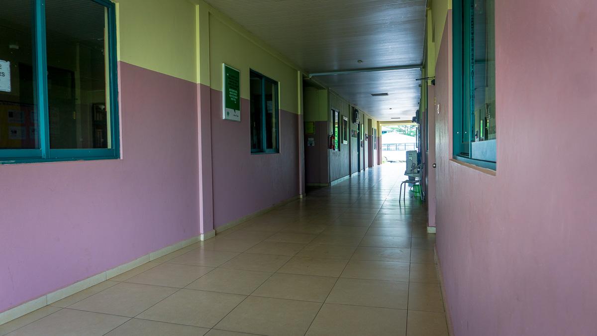 ICS Ghana Pakyi Campus administration block's hallway